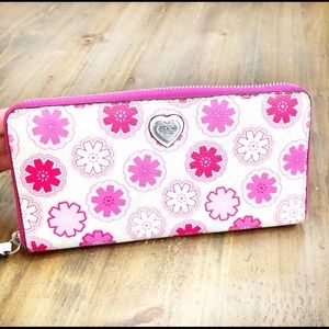 Coach Waverly floral zip around wallet